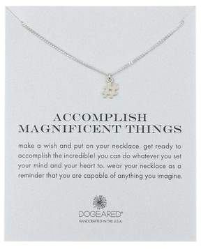 Dogeared Sterling Silver 'Accomplish Magnificent Things' Hashtag Pendant Necklace
