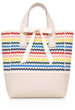 Loeffler Randall Ribbon Saffiano Leather Tote