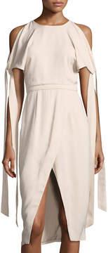 Keepsake Two-Minds Cold-Shoulder Dress
