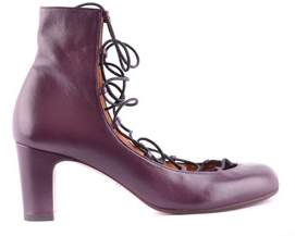 Chie Mihara Women's Burgundy Leather Ankle Boots.