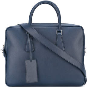 Prada removable strap laptop bag