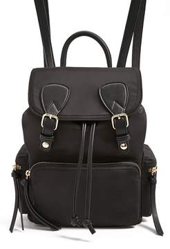 Forever 21 Faux Leather-Trim Backpack