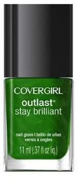 Cover Girl Outlast Stay Brilliant Nail Gloss Nail Polish, 50, Emerald Blaze.