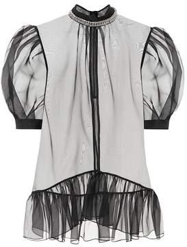 Christopher Kane Sheer silk blouse