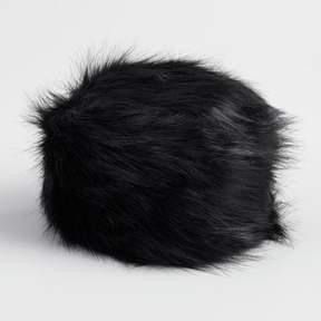 World Market Black Faux Fur Hat