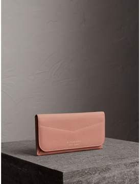 Burberry Trench Leather Envelope Wallet - ASH ROSE/PALE CLEMENTINE - STYLE