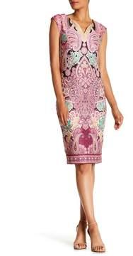 ECI Cap Sleeve Patterned Scuba Dress