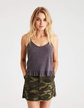 American Eagle Outfitters AE Soft & Sexy Plush Ruffle-Hem Cami