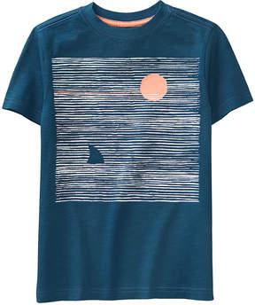Gymboree Blue Sunset Shark Fin Tee - Boys