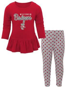 NCAA Baby Wisconsin Badgers Tiny Trainer Tee & Leggings Set
