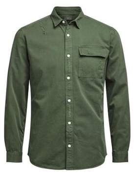 Jack and Jones Thyme Cotton Casual Button-Down Shirt