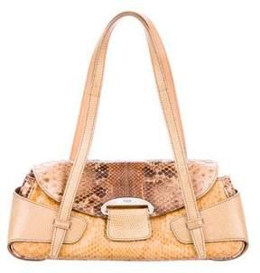 Tod's Lizard-Trimmed Python Bag