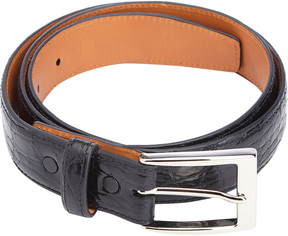 Royce Leather Men's Genuine Crocodile Leather Belt