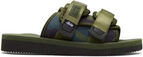 Suicoke Green Stussy Edition Moto Sandals