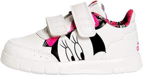 Minnie Mouse Print Faux Leather Sneakers