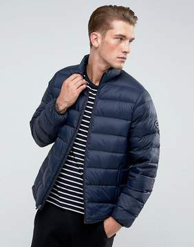 Abercrombie & Fitch Quilted Jacket Faux Down in Navy