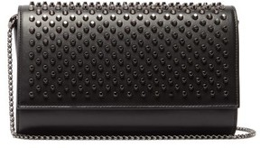 Christian Louboutin Paloma Spike Embellished Leather Clutch - Womens - Black
