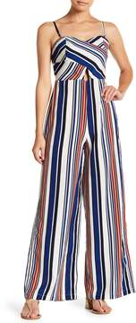 Flying Tomato Stripe Print Jumpsuit