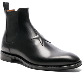 Givenchy Leather Rider Boots in Black.
