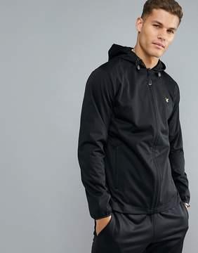 Lyle & Scott Fitness Bennett Hooded Running Jacket in Black