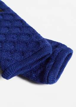 MANGO Cable-knit gloves