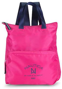 Nautica New Tack Logo Pocket Backpack - Sunrise Pink