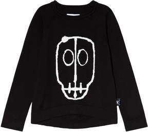 Nununu Black Skull Mask Patch Light Knit Top