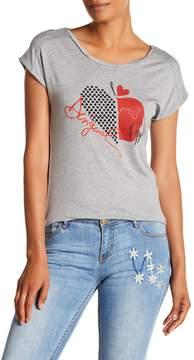 Desigual Graphic Hi-Lo Short Sleeve Shirt
