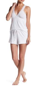 Barefoot Dreams Luxe Milk Jersey Lace Short