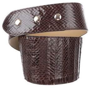 Diane von Furstenberg Snakeskin Waist Belt