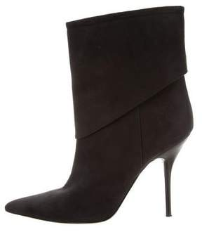 Calvin Klein Collection Nubuck Pointed-Toe Boots