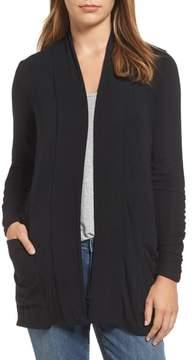 Bobeau Women's Ruched Sleeve Cardigan