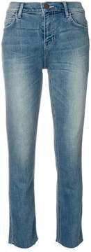 Current/Elliott frayed hem cropped jeans