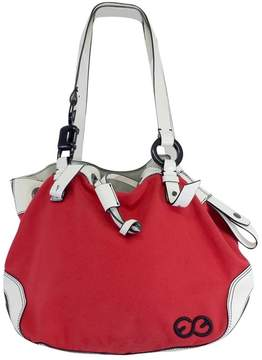 Escada Sport Red & White Canvas & Leather Bag