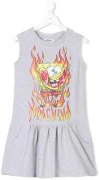 Moschino Kids sponge bob print dress
