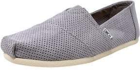 Toms Men's Classic Perforated Suede Drizzle Grey Ankle-High Slip-On Shoes - 11.5M
