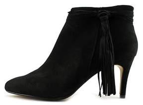 Thalia Sodi Altaf Women Round Toe Suede Black Ankle Boot.