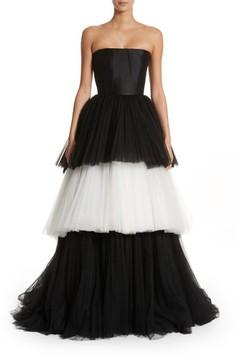 Carolina Herrera Women's Strapless Layered Tulle Gown