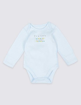 Marks and Spencer I'm a Little Brother Pure Cotton Bodysuit