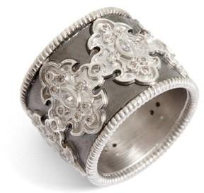 Armenta Women's New World Scroll Diamond Band Ring