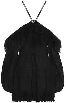 Alice McCall Lover Of Mine Tiered Broderie Anglaise Cotton Mini Dress