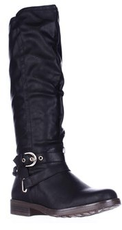 XOXO Martin Riding Boots, Black.