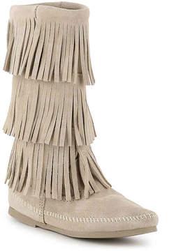 Minnetonka Women's Calf Hi 3 Layer Fringe Western Boot