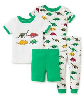 Little Me Baby Boy's Four-Piece Dino Cotton Pajama Set