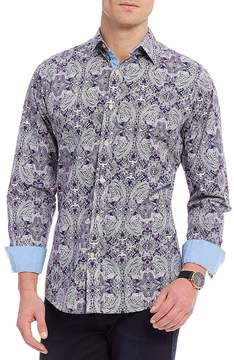 Daniel Cremieux Jeans Paisley Poplin Long-Sleeve Woven Shirt