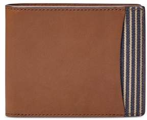 Fossil Mens Flip Id Bifold Wallet Brown One Size
