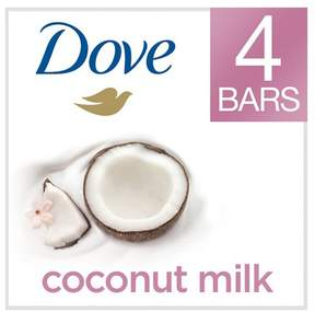 Dove Purely Pampering Coconut Milk with Jasmine Petals Beauty Bar 4 oz, 4 Bar