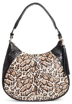 Brahmin Amira Genuine Calf Hair & Croc Embossed Leather Shoulder Bag