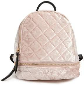 Forever 21 Quilted Velvet Mini Backpack