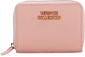 Versace Saffiano Leather Small Wallet, Pink